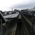 Dworzec kolejowy Szczecin Główny - widok z kładki nad peronami