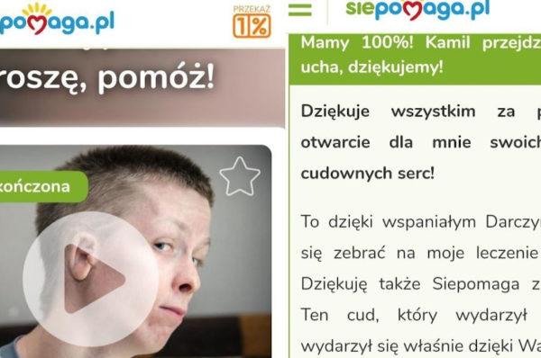 Zbiórka na leczenie Kamila Stawiarza zakończona sukcesem