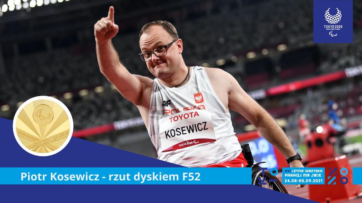 Piotr Kosewicz okazujący radość po zwycięstwie