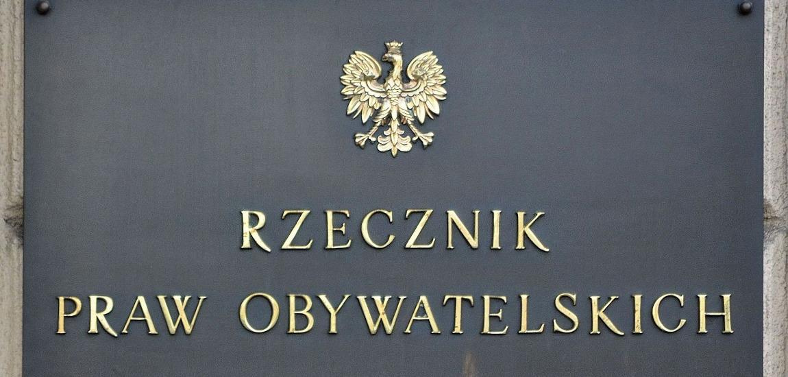 Tabliczka z budynku Rzecznika Praw Obywatelskich