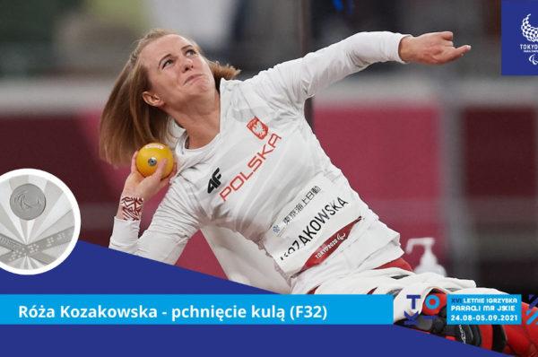 Drugi medal Róży Kozakowskiej. Tym razem srebro w pchnięciu kulą