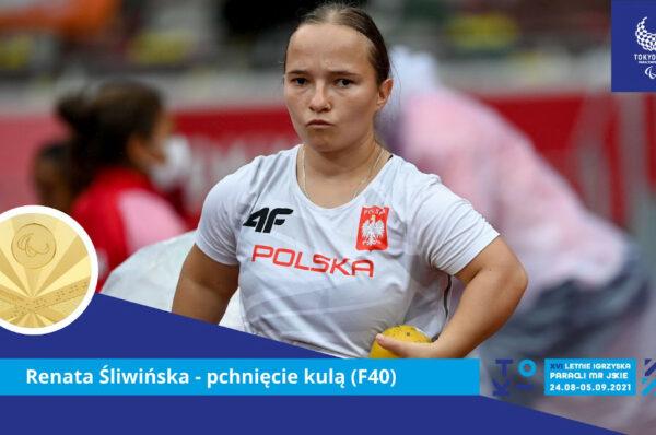 Renata Śliwińska ze złotem w pchnięciu kulą