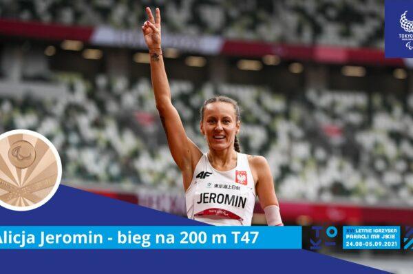 Alicja Jeromin z brązowym medalem na 200 metrów